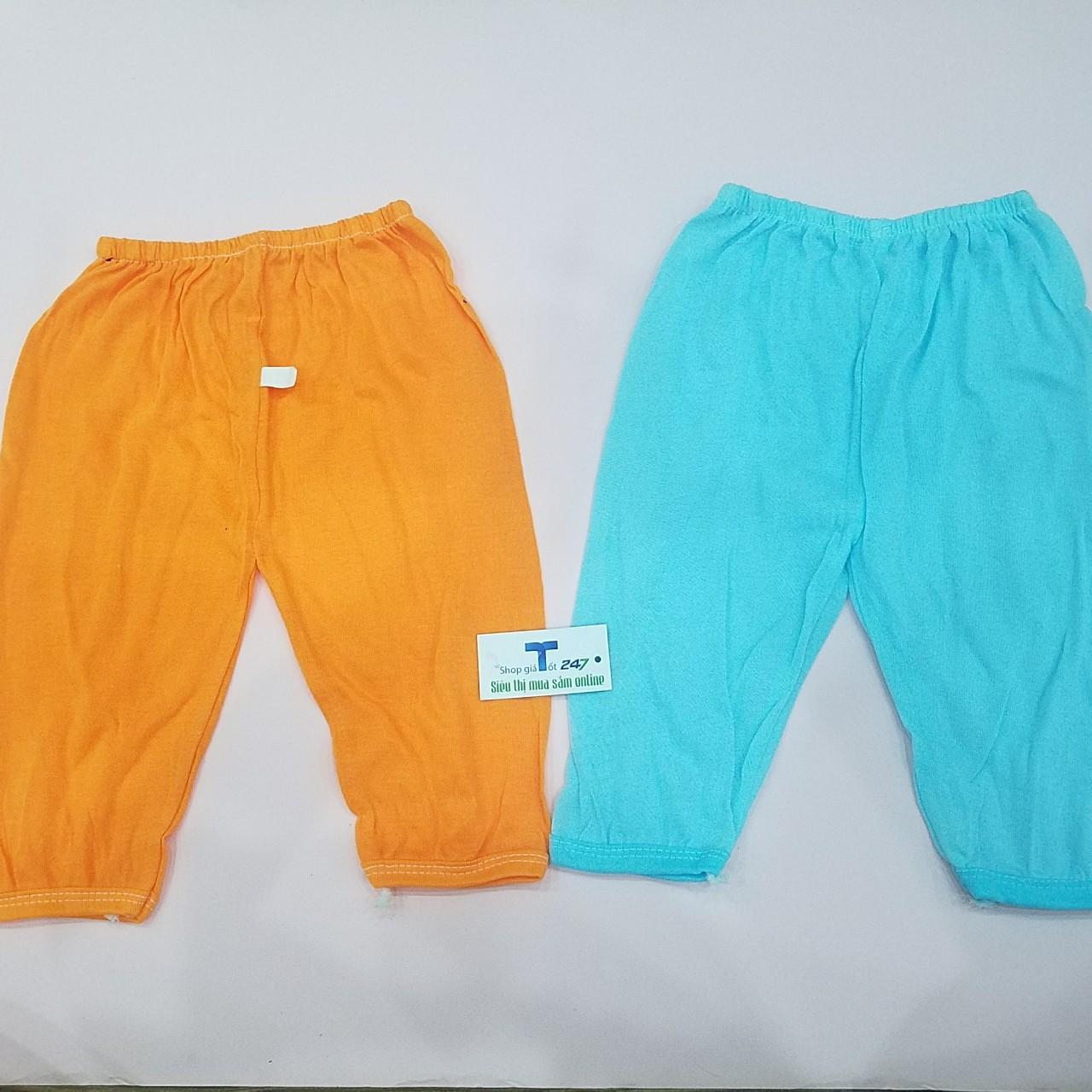 Combo 10 quần dài thu đông trơn cho bé trai bé gái