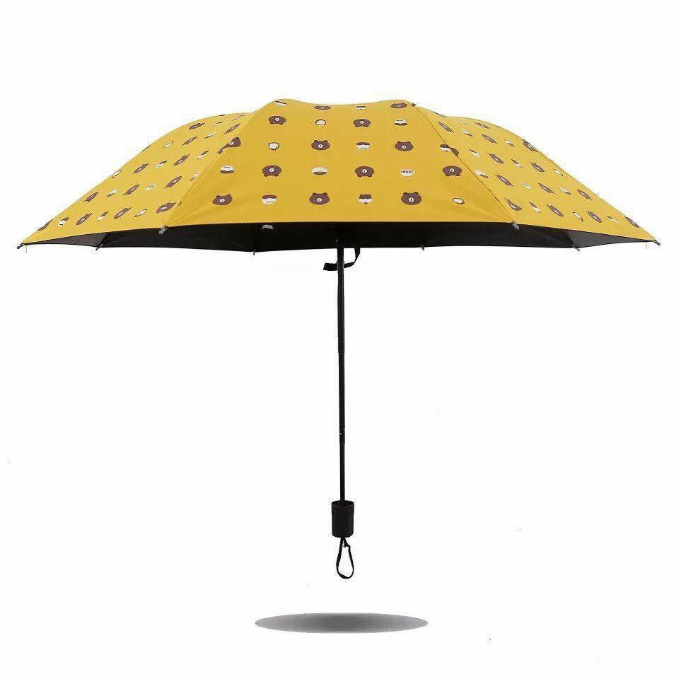Ô che mưa, đi nắng hình gấu Brown