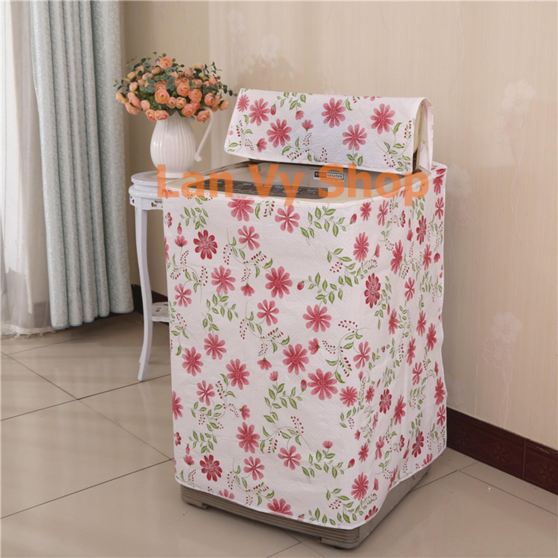 Áo trùm máy giặt 9kg - 10kg - vải  PEVA 2 lớp - cửa trên- kích thước 61x64x90cm ( Tấm che, Miếng đậy, Bạt Phủ ) Lan Vy Shop