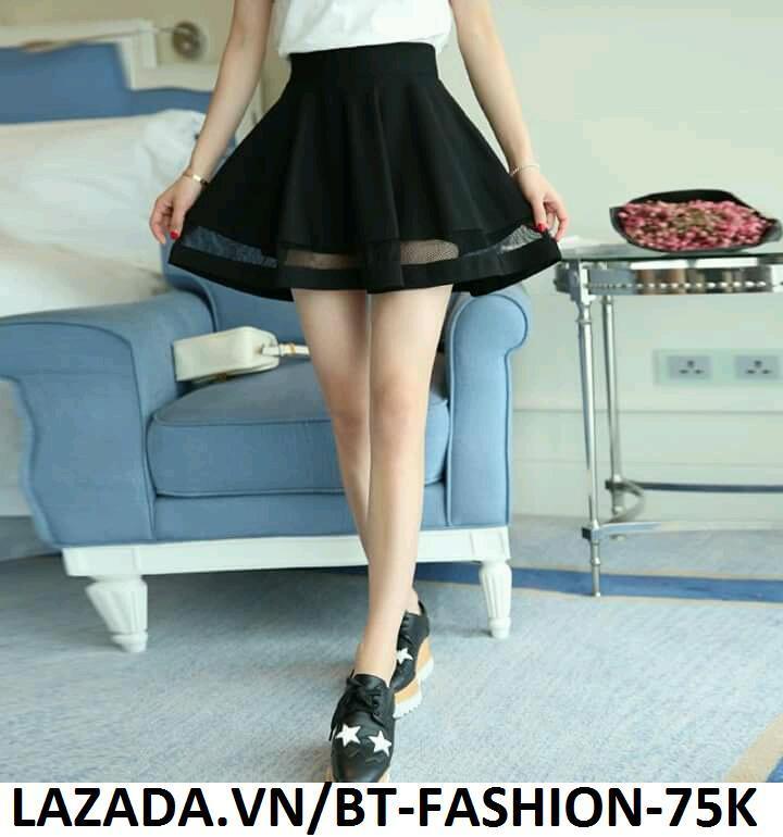 Chân Váy Xòe Lưng Thun Duyên Dáng Thời Trang Hàn Quốc - BT Fashion  (VA01)