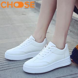 Giày Bata Nữ Trắng Sneaker Độn Đế Thể Thao Mẫu Hot Girl Hàn Quốc 2018 0902 thumbnail