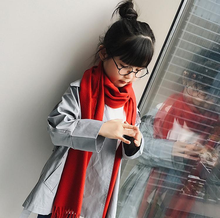 Khăn quàng cổ cho bé gái phong cách Hàn Quốc