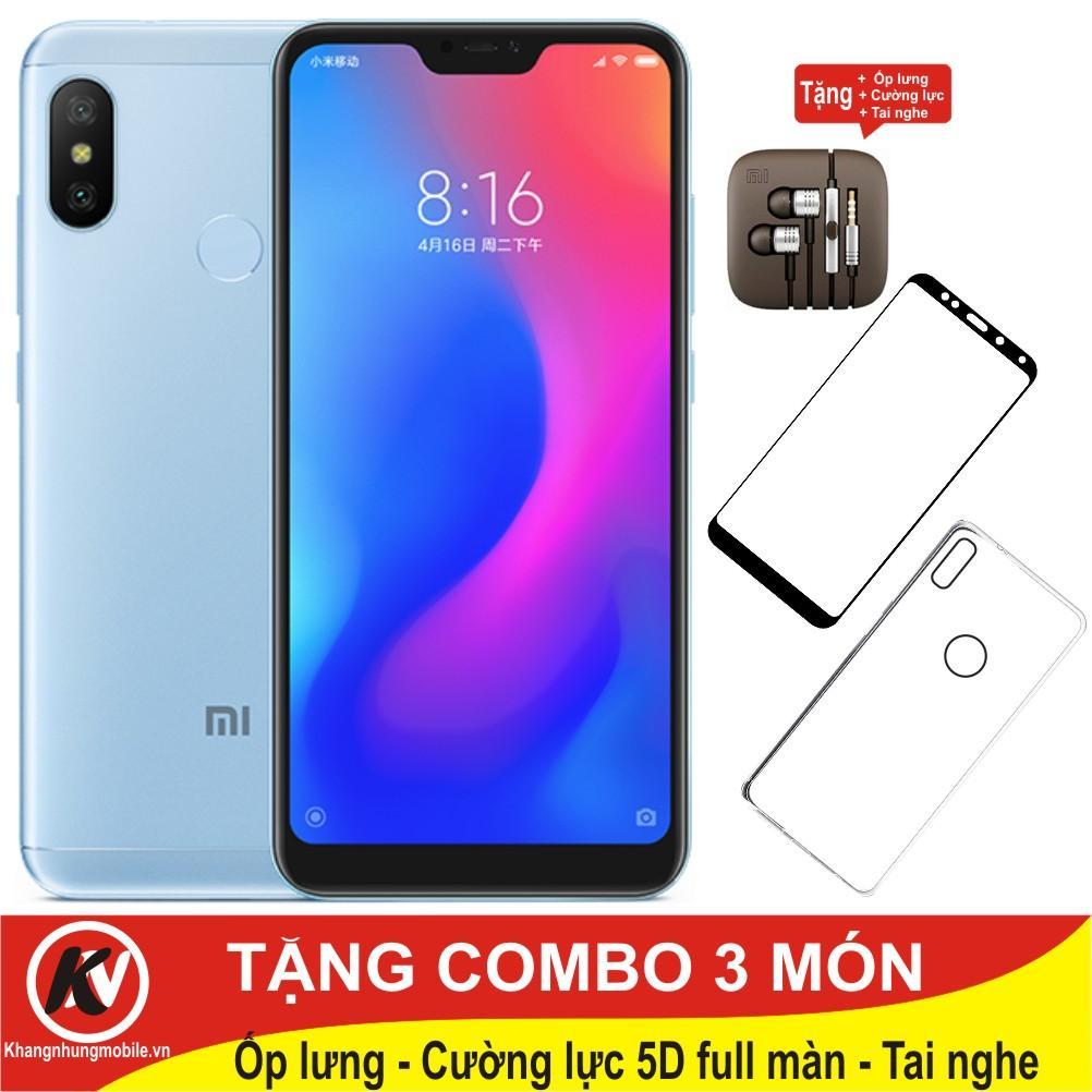 Xiaomi Mi A2 Lite, MiA2Lite 64GB Ram 4GB Kim Nhung - Hàng chính hãng Digiworld + Ốp lưng + Cường lực 5D full màn + Tai nghe