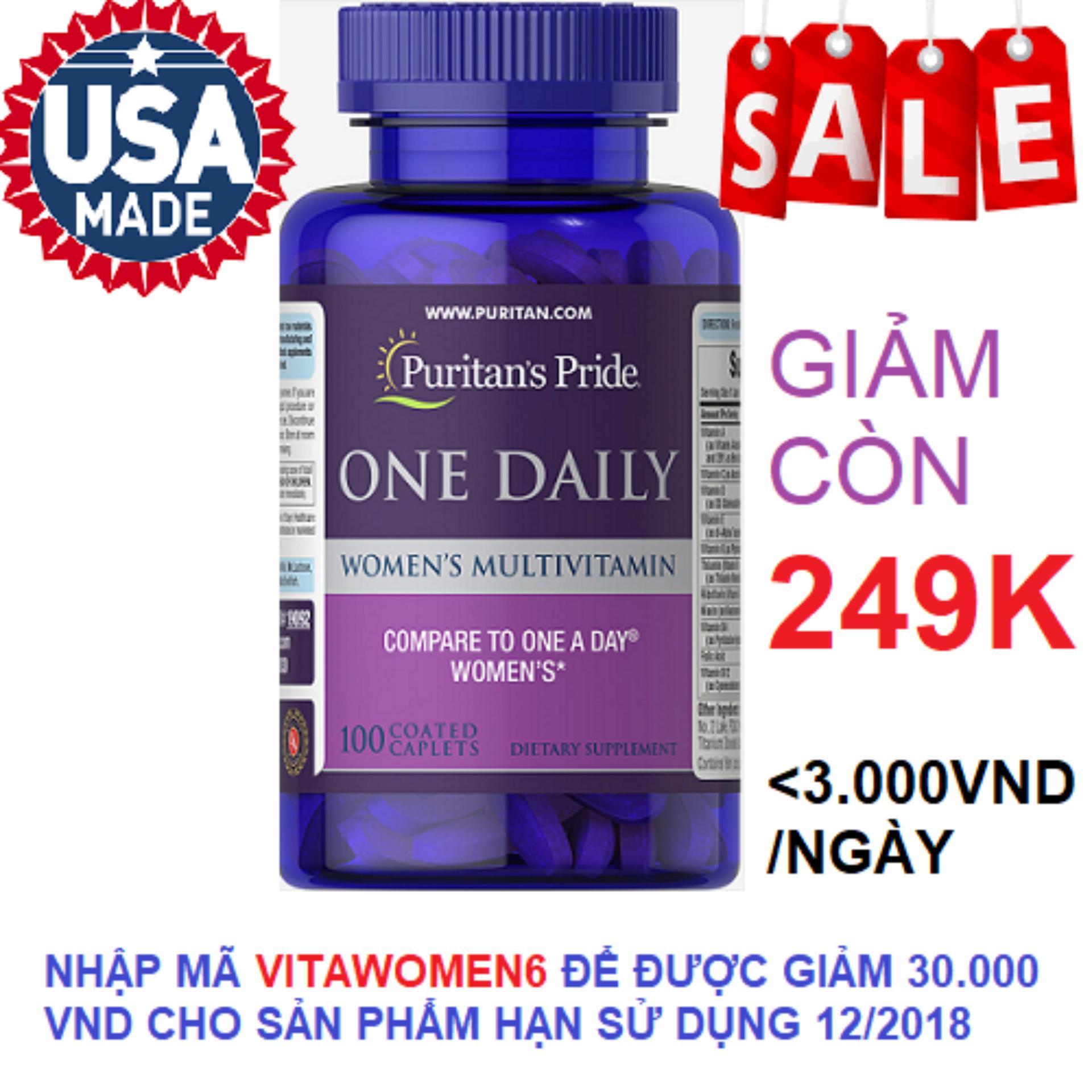 Vitamin tổng hợp cho phụ nữ 1 viên/ngày Puritan's Pride...