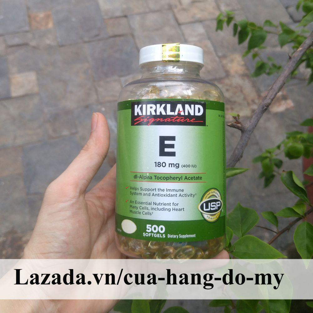 Vitamin E Kirkland 400 IU Mẫu Mới Nắp Trắng có hút ẩm của Mỹ- 500 Viên [DATE MỚI] - Vitamin E của Mỹ giúp sáng da, mịn màng.