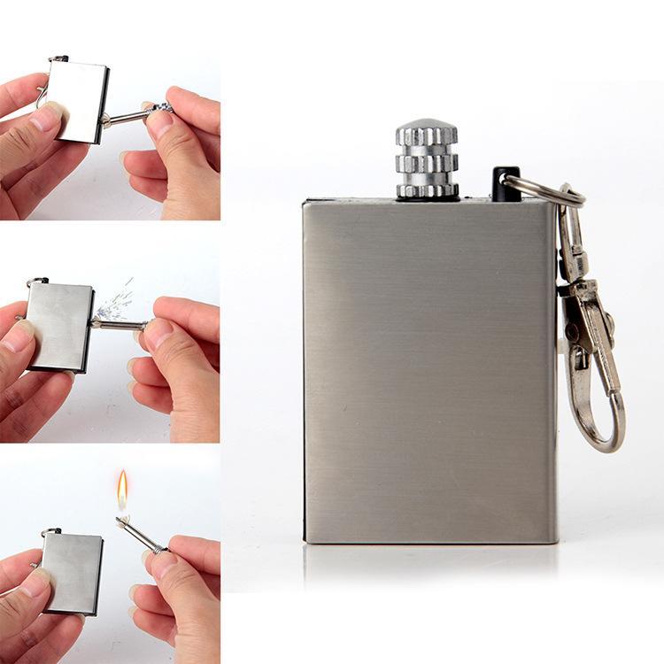 Zippo - Bật lửa,Hột quẹt bằng diêm xăng, có móc khóa thiện lợi