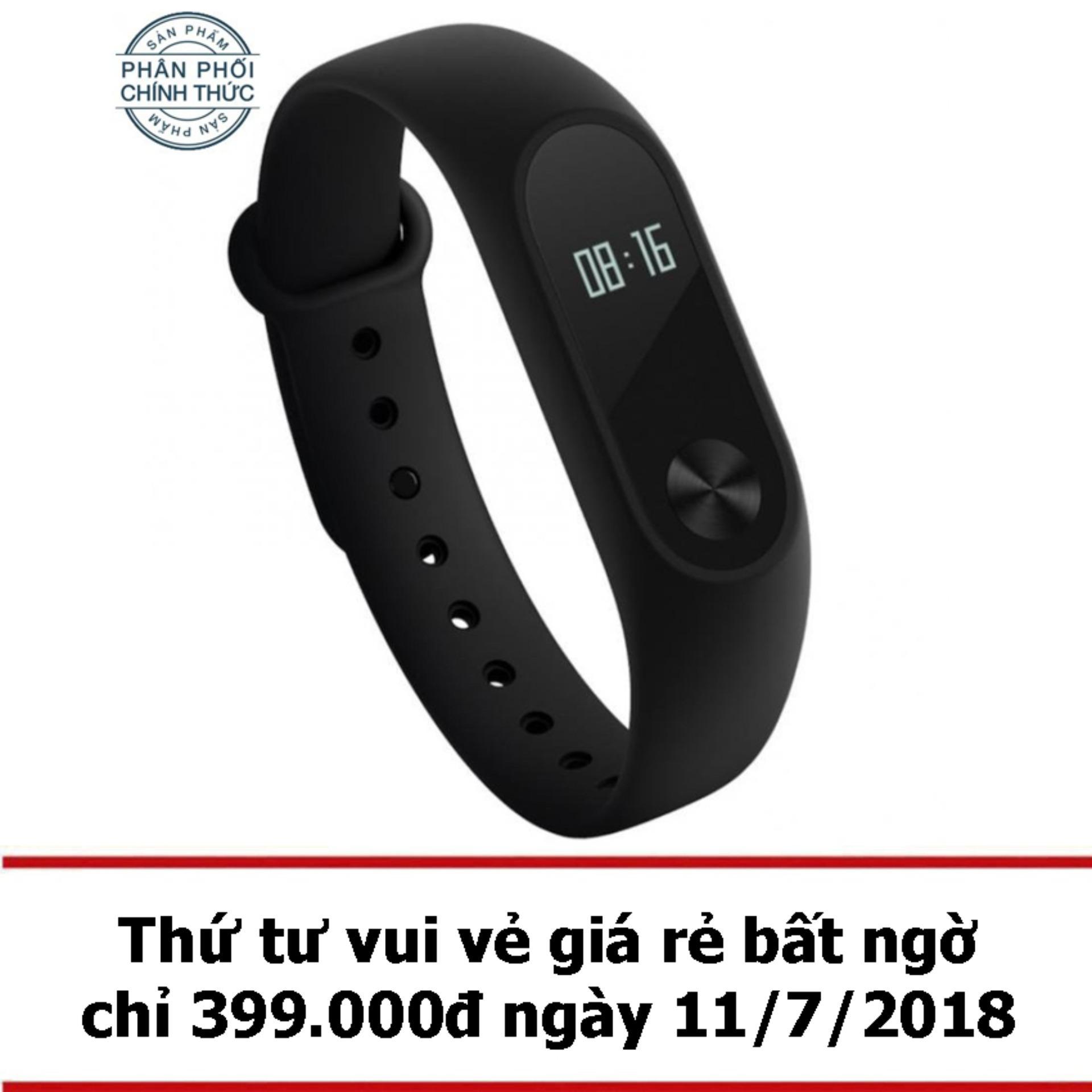 Vòng đeo tay Xiaomi Miband 2 (Đen) - Hãng phân...
