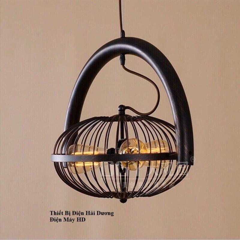 Đèn thả -  Đèn thả bàn ăn - Đèn thả trần - Đèn Thả Trần Kiểu Lồng Quạt Tặng 3 bóng Đui E27 TN433 Bảo hành 12 tháng