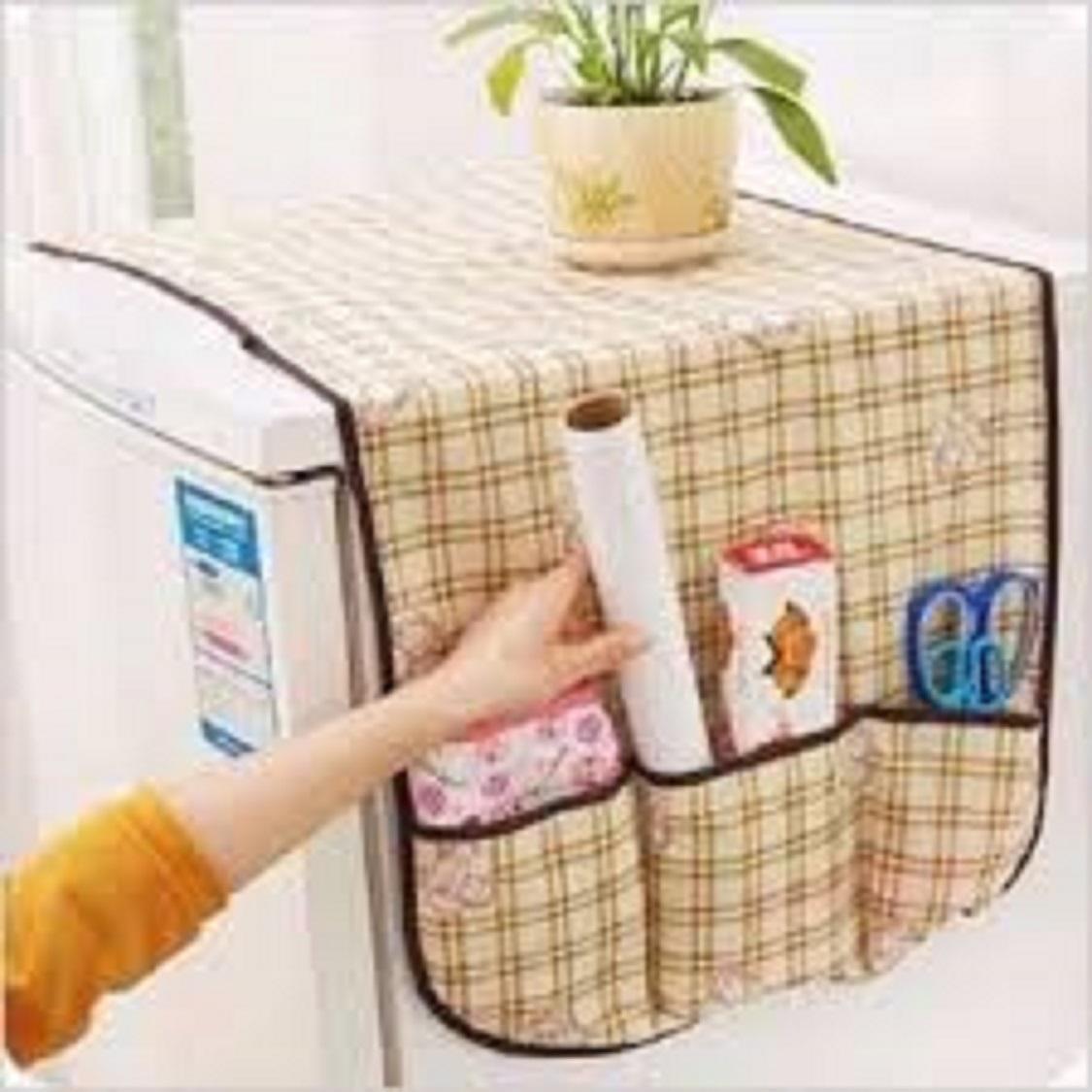 Tấm phủ tủ lạnh có túi đựng bằng vải không dệt