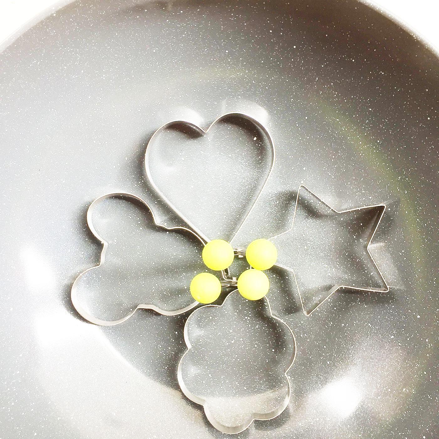 Bộ 4 khân rán trứng , làm bánh ( Tạo hình ngộ nghĩnh giúp bé ăn ngon )