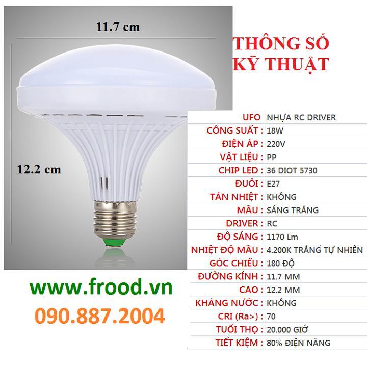 Bóng đèn LED UFO 18w