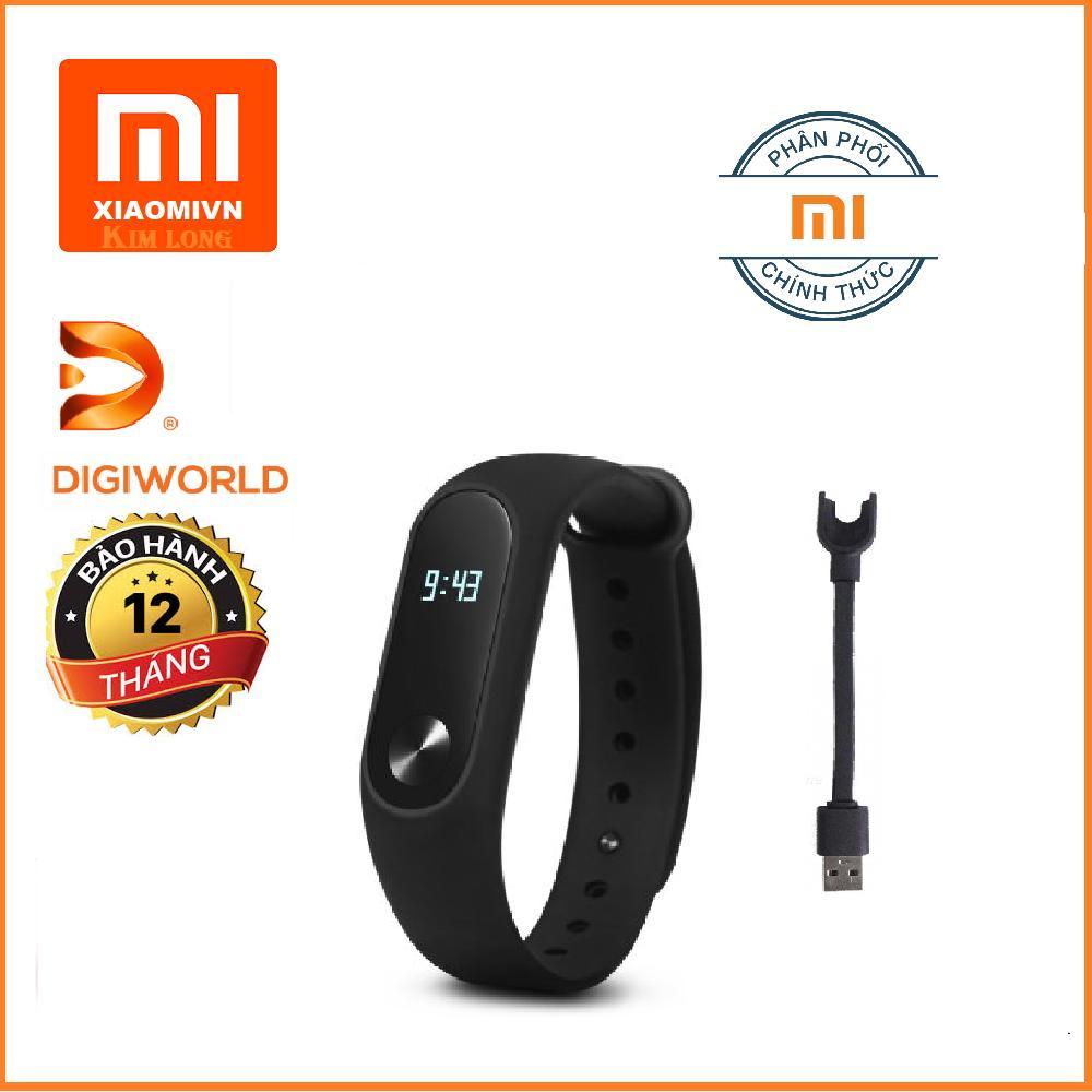 Hình ảnh Vòng đeo tay Xiaomi Miband 2 (Đen) - Hàng Digiworld