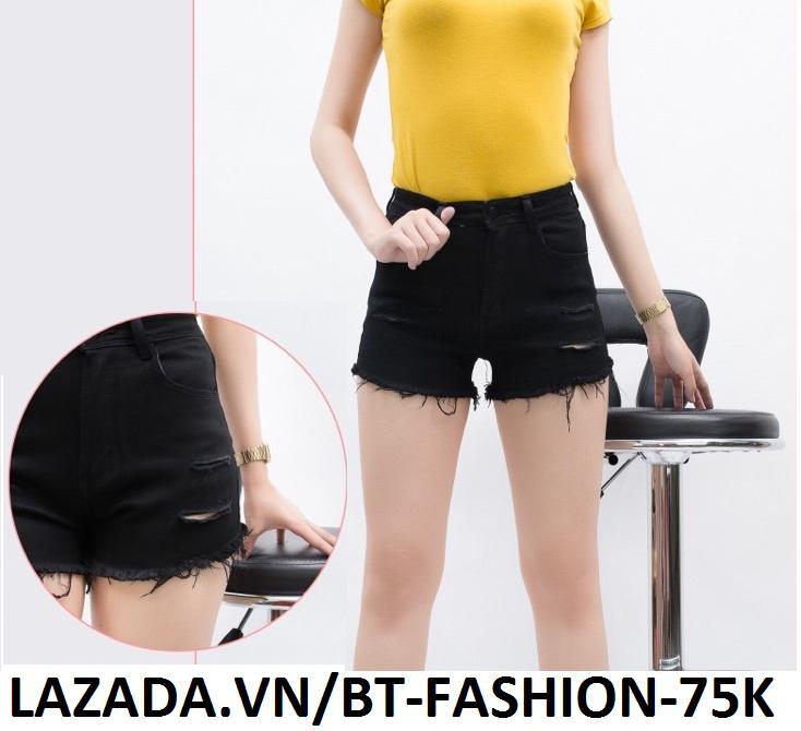 Quần Đùi Sọt Nữ Kaki  Coton Co Dãn Thời Trang Hàn Quốc Mới - BT Fashion