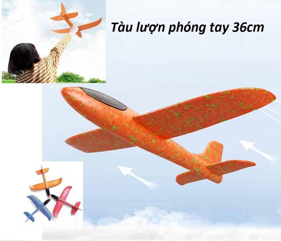 Máy bay tàu lượn phóng tay (phi tay) xốp dẻo siêu bền 36cm (KN206 TP) - Luân Air Models