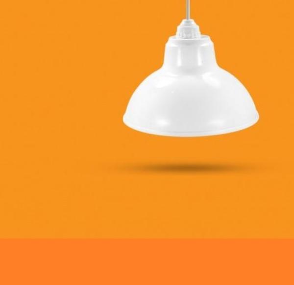 Bộ Chao đèn Chóa đèn nhựa trắng ngoài trời 20cm và đui E27 Kín nước