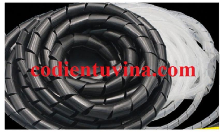 Dây xoắn nhựa đen (Spiral Tubes- hay Dây xoắn ruột gà) Màu trắng phi 25