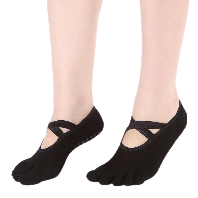 Women Yoga Pilates Socks Low Cut Non Slip Grip Socks for Ballet Dance Fitness Exercise Sport