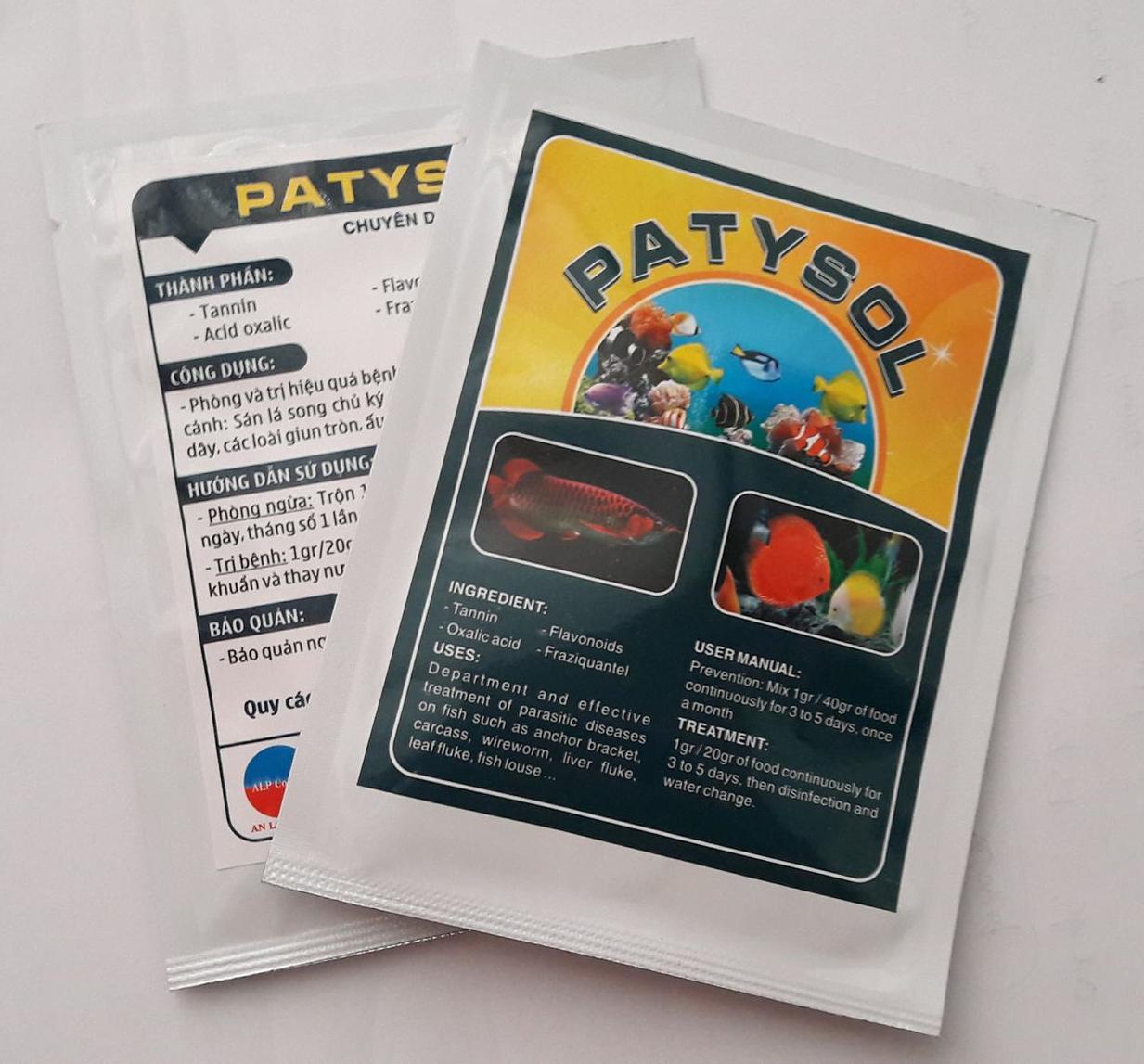 PATYSOL: ký sinh trùng cá cảnh Gói 10g