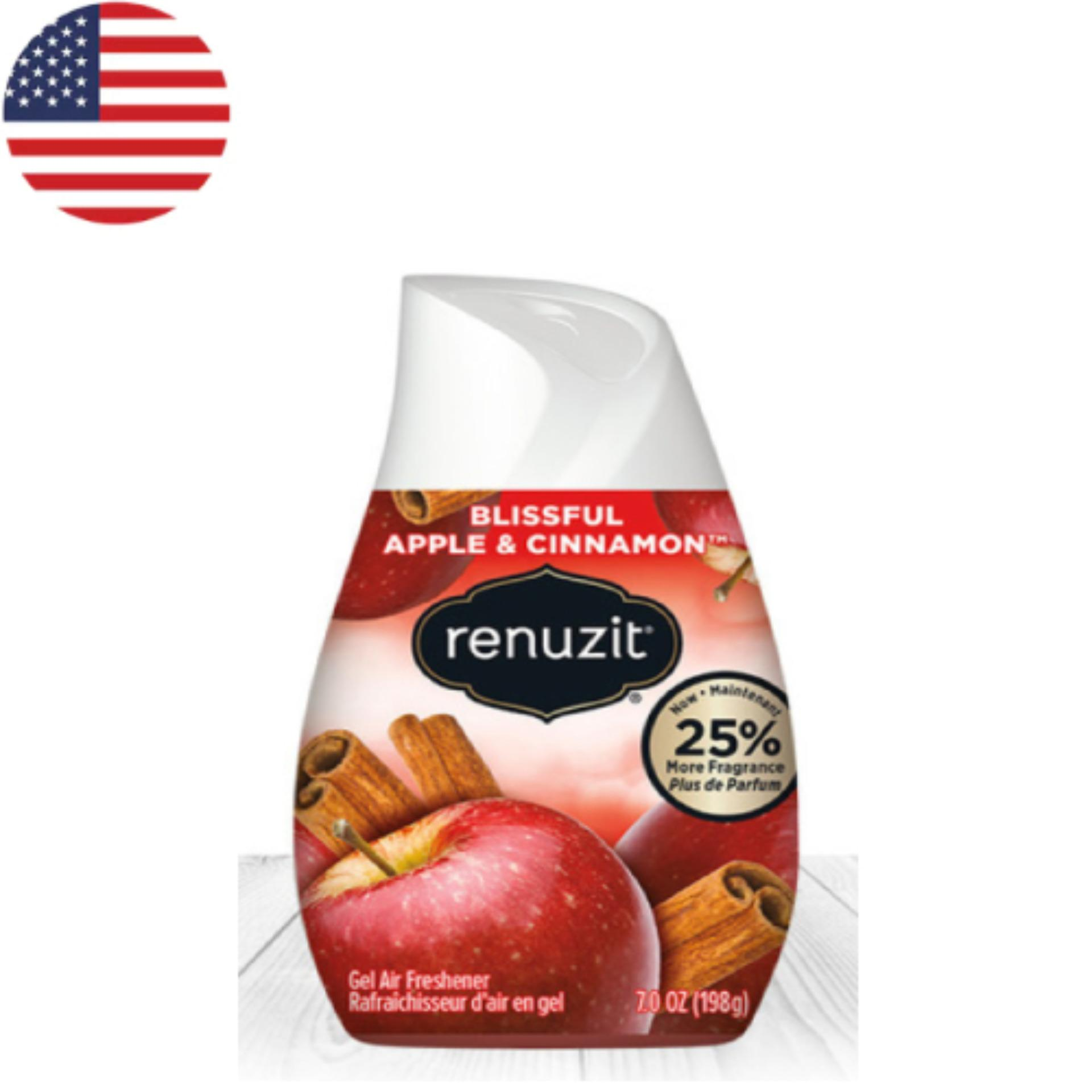 Sáp thơm phòng Renuzit Apple Cinnamon 198g - Nhập khẩu Mỹ