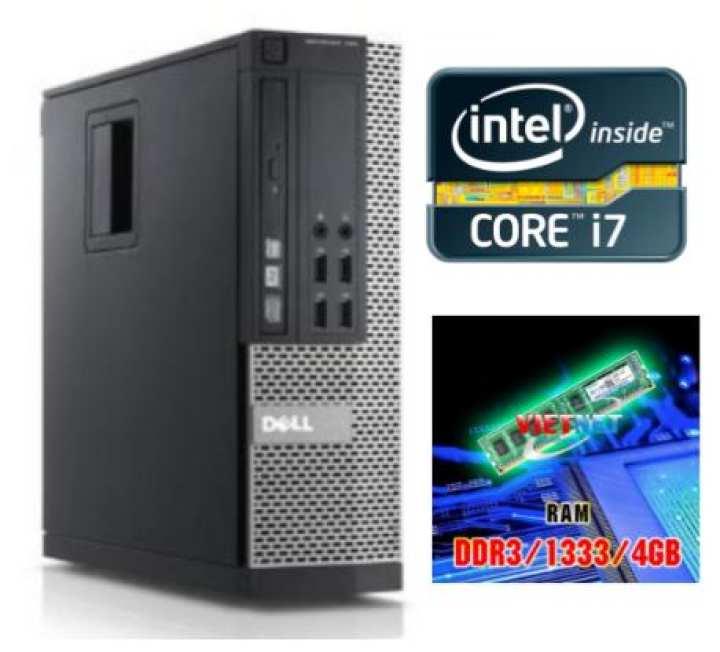 Máy tính đồng bộ DellOptiplex core i7-3770 Ram 4GB HDD 500GB SSD 128GB Tặng màn hình 19inch