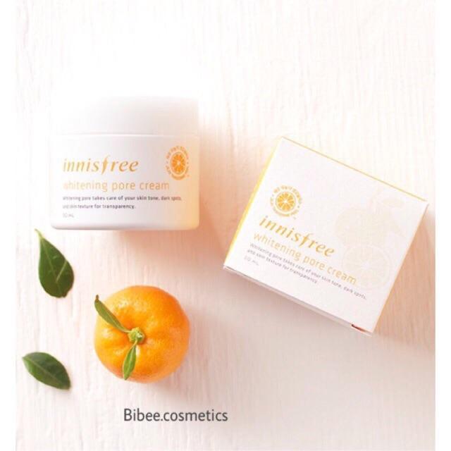 Kem dưỡng trắng da chiết xuất quýt Innisfree Whitening Pore Cream
