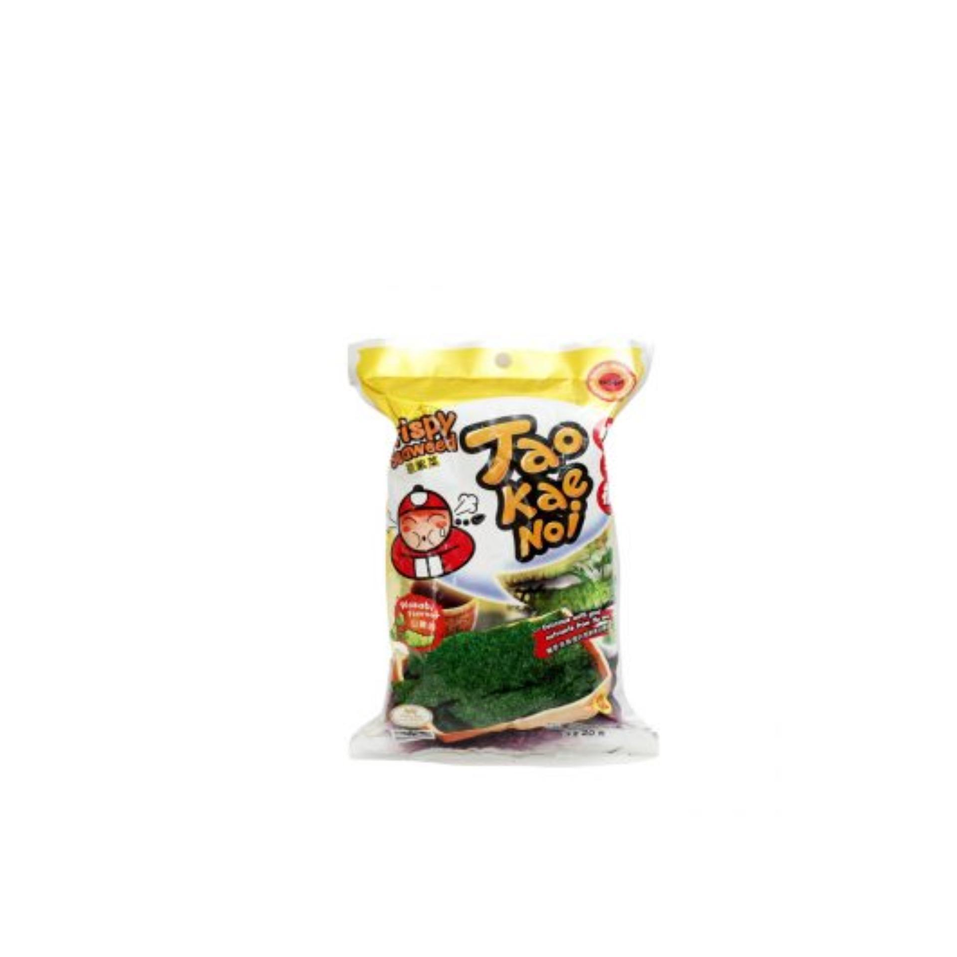 Snack Rong biển Taokaenoi Sấy Crispy Seaweed vị Wasabi 15g