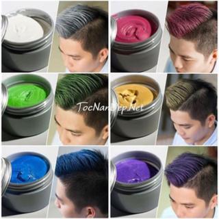 Sáp tạo màu tóc nam cao cấp có đầy đủ 8 màu màu xám khói, màu xanh dương, màu xanh rêu, màu hạt dẻ, màu đỏ, màu tím, màu vàng, màu trắng thumbnail