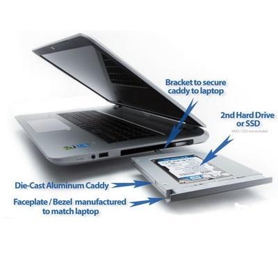 Khay gắn HDD/SSD cổng DVD - Caddy Bay SATA  12.7mm