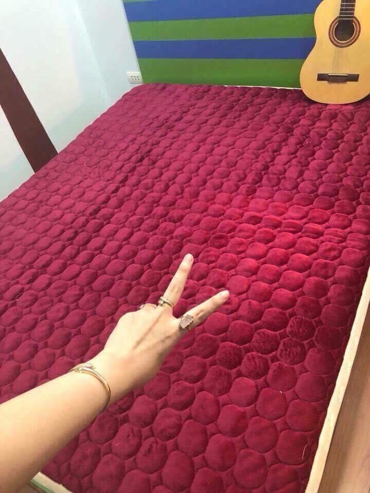 thảm  nhung trải giường (hàng việt nam)