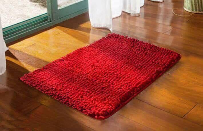 Bộ 4 thảm lau chân san hô siêu thấm loại to (60x40cm)(Nhiều màu)