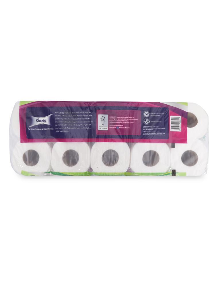 Giấy Vệ Sinh Cuộn Nhỏ Kleenex 2 Lớp Siêu Thấm (Lốc 10 Cuộn)