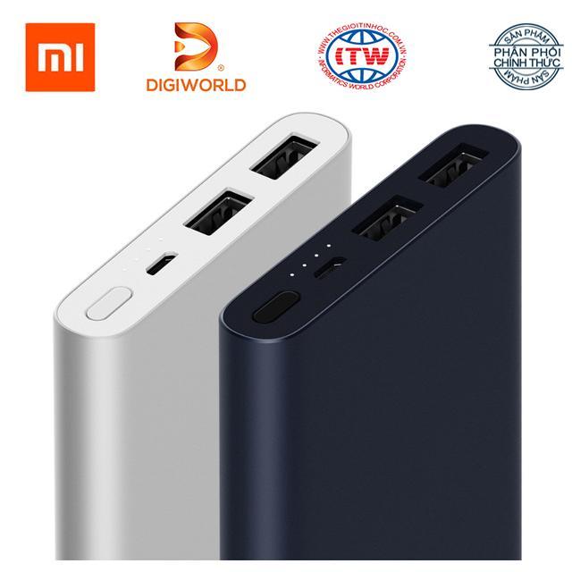 Pin sạc dự phòng Xiaomi 10 000 mAh Gen 2s Quick Charge 3.0 - Hãng phân phối chính thức Digiworld