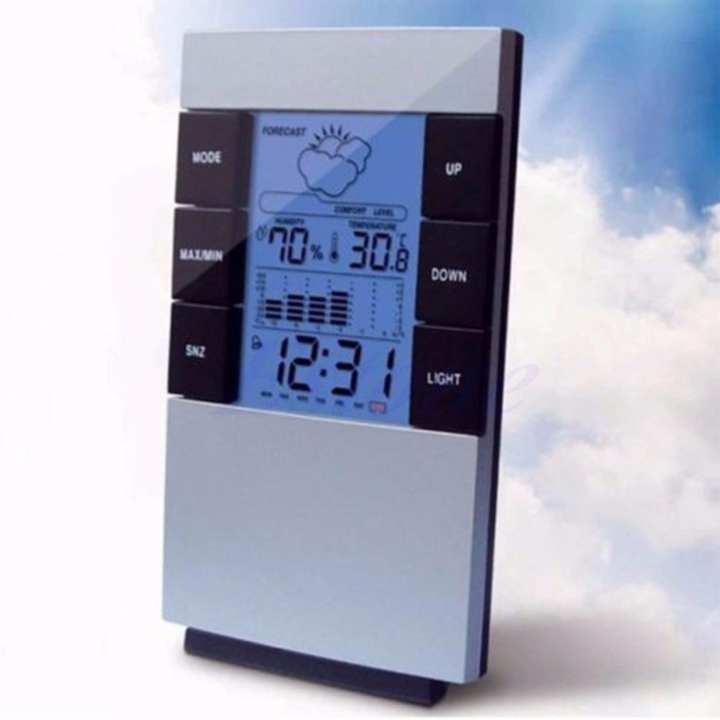 Nơi bán Đồng hồ thông minh để bàn Đa chức năng MÀN HÌNH LCD Màu Nhiệt Độ Ẩm Kế Thời Tiết kiêm Đồng Hồ Báo thức 3210