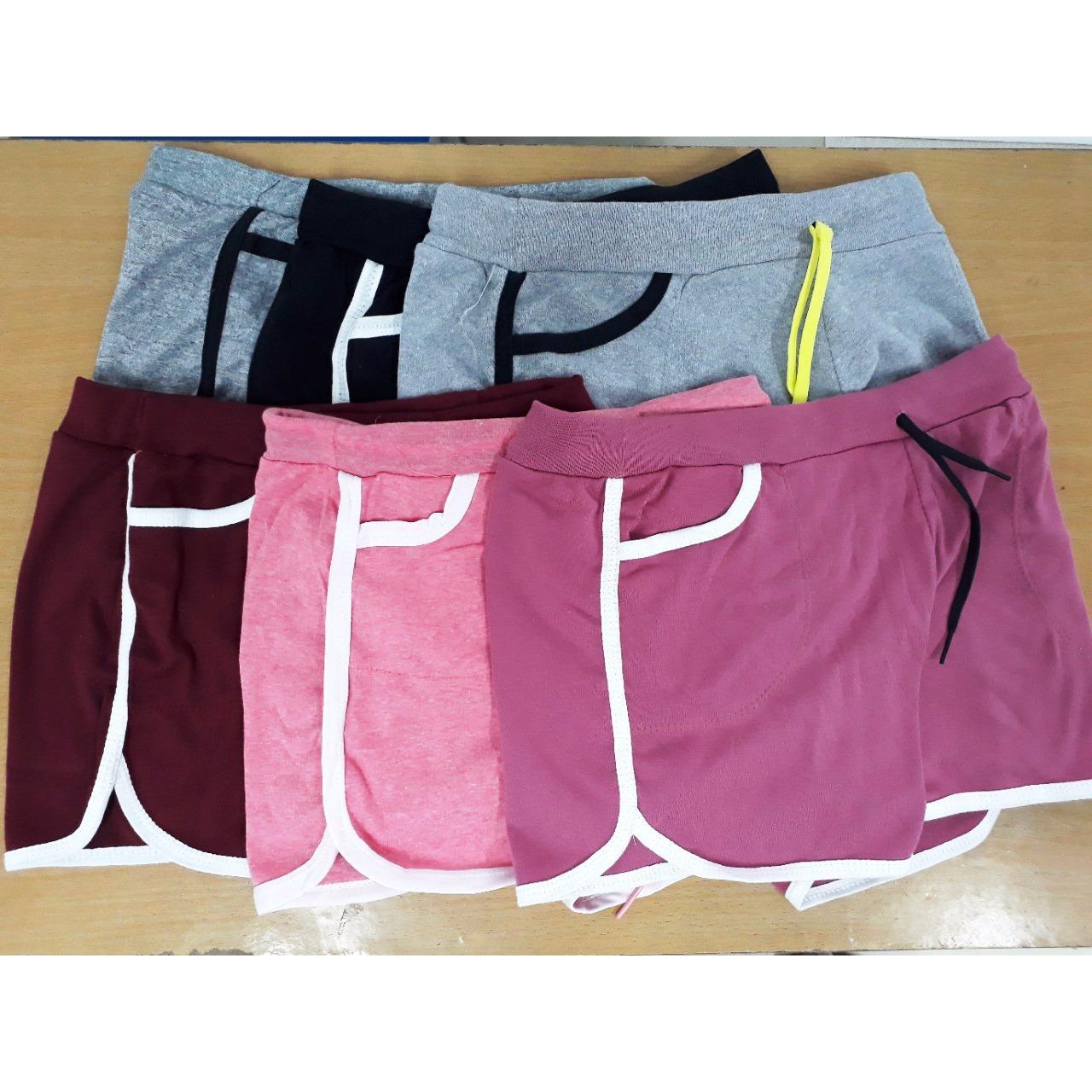 Quần đùi short nữ cotton dáng thể thao dây rút + Tặng kèm thẻ tích điểm Giá tốt 360