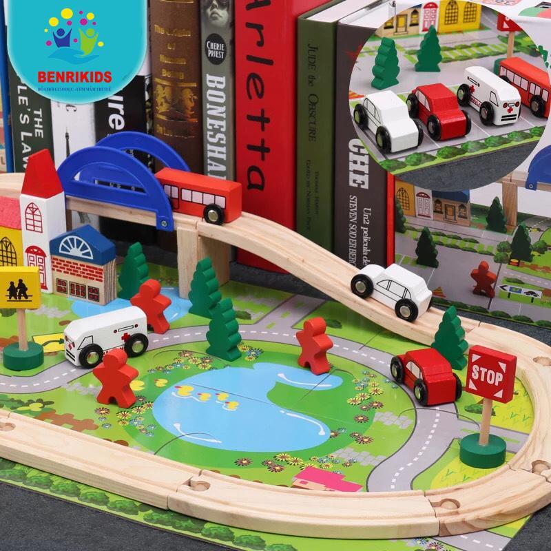 Bộ đồ chơi ghép mô hình thành phố bằng gỗ...