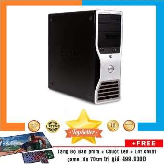 máy workstation khủng dell precision t5500 mt nguyên bản, chạy 2 cpu xeon e5620 nguyên bản, chạy 8 nhân 16 luồng, ram ecc 32gb, ssd 480gb, hdd 4tb, vga quadro fermi 2000 + bộ quà tặng
