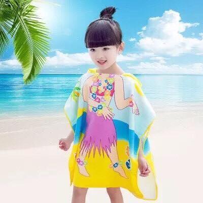 Khăn tắm choàng cho bé đi biển hình ngộ nghĩnh(...