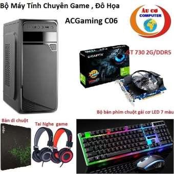 bộ máy tính chơi game acgaming d06 g2030 /4g / 500g / vga 2g/ddr5 -tặng bàn phím chuột có đén led 7 màu , tai nghe chuyên game
