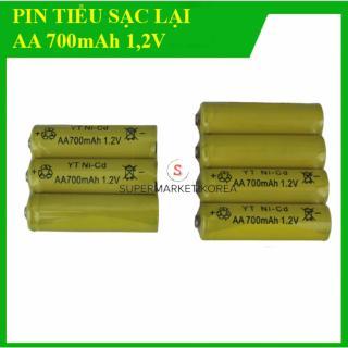 Vỉ 04 viên pin tiểu sạc lại, pin AA 700mAh - 1,2V Ni-cd thumbnail