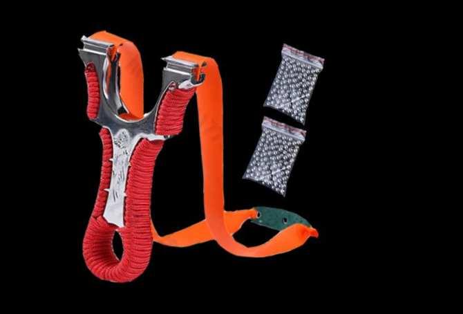 Sung cao su dây dẹt 2 lớp 1mm LONG PHỤNG tặng 200 bi sắt 8mm-|BGscs133