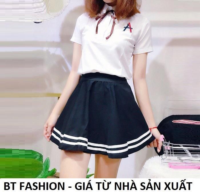 Chân Váy Xòe Lưng Thun Duyên Dáng Thời Trang Hàn Quốc - BT Fashion (VA001B- Xòe Viền)