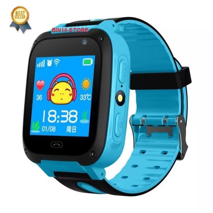đồng hồ định vị trẻ em có tiếng Việt, chụp ảnh, chống nước bảo hành 6 tháng (xanh - hồng)