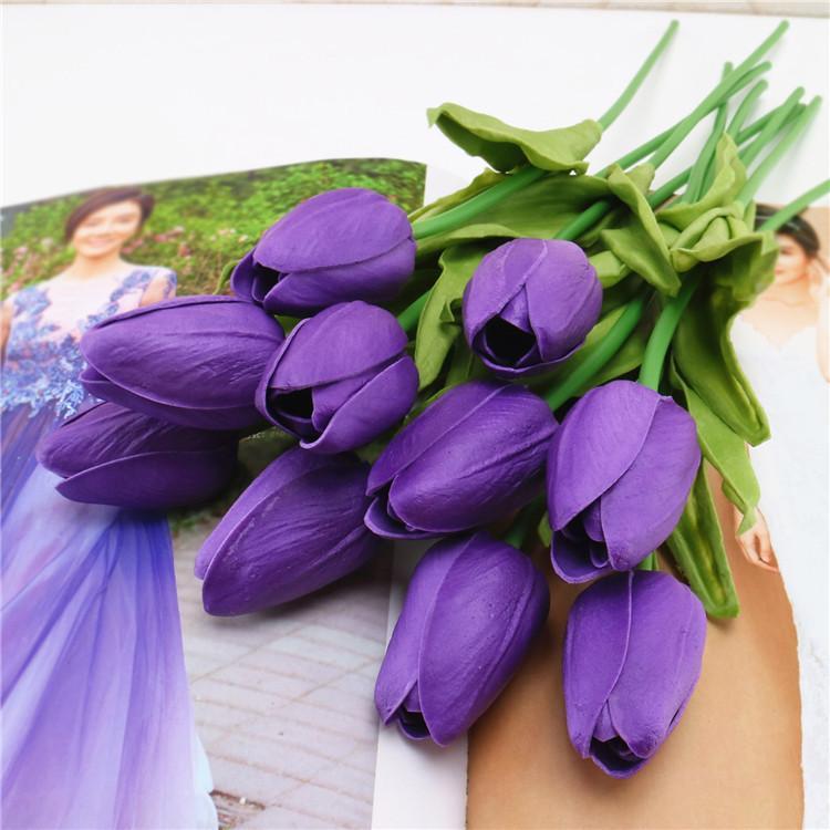 Bó 5 bông hoa giả hoa nhựa TuLip nhiều màu -HPMFlowerFLastic