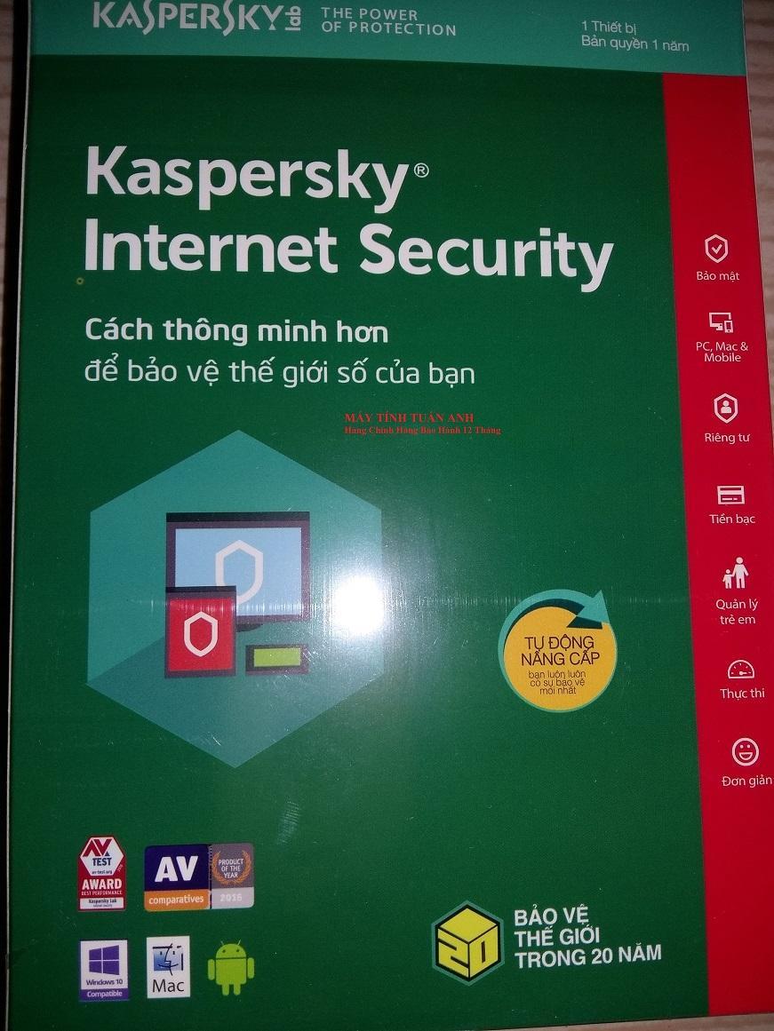Phần mềm diệt virut Kaspersky Internet Security 1PC/2019