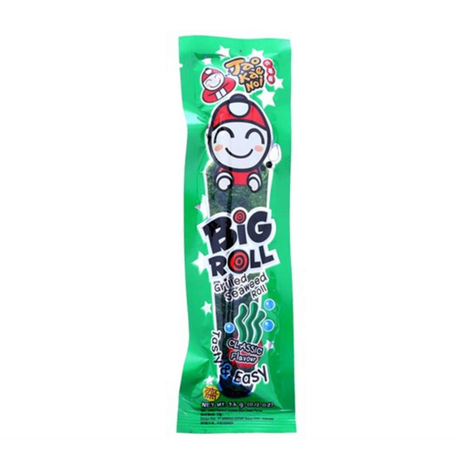 Combo 2 Gói Snack Rong biển Taokaenoi Nướng Big Roll vị Truyền thống 3,6g
