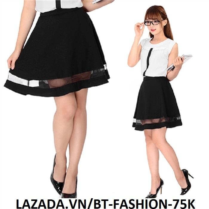 Chân Váy Xòe Lưng Thun Duyên Dáng Thời Trang Hàn Quốc - BT Fashion (VA02D)