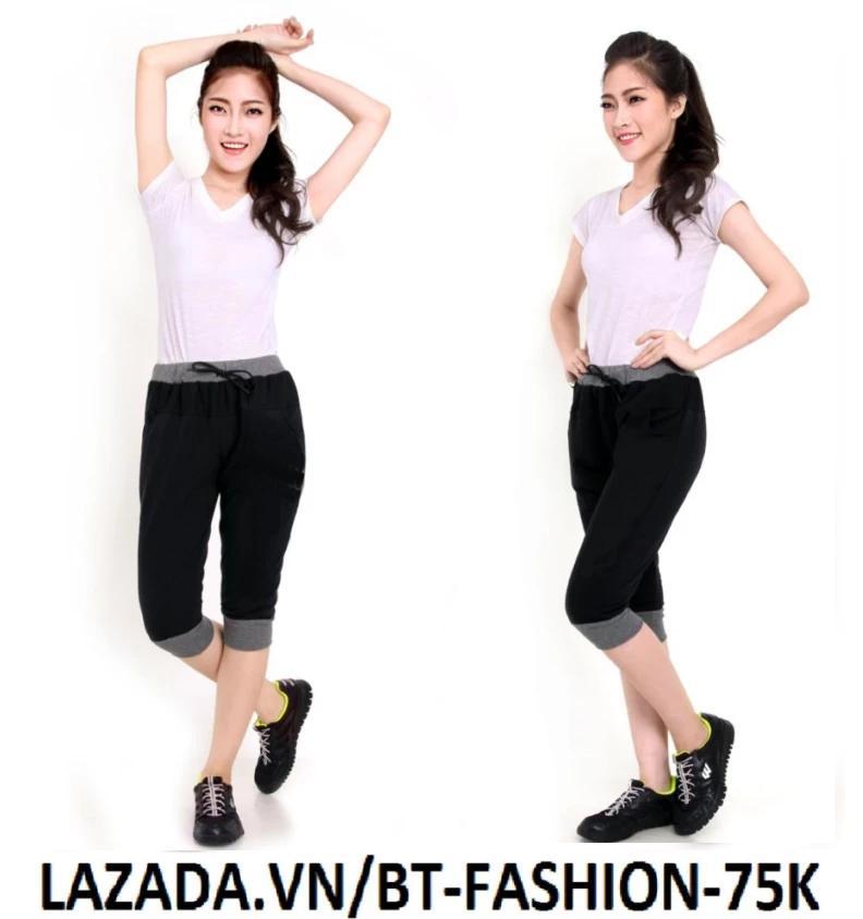 Quần Nữ Thun Phom Rộng Jogger Thể Thao Thời Trang Hàn Quốc - BT Fashion (Lững Trơn - 02)