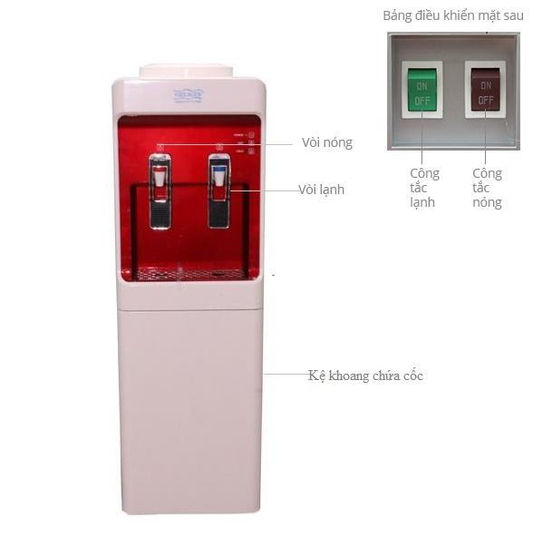 [Sale sốc] Cây nước nóng lạnh Philiger PLG-3020 (Trắng phối đỏ) [Chỉ hôm nay]