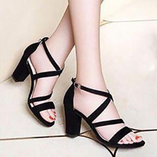 [ẢNH THẬT] Giày cao gót sandal 7 phân quai mảnh chéo gót SD02 thumbnail