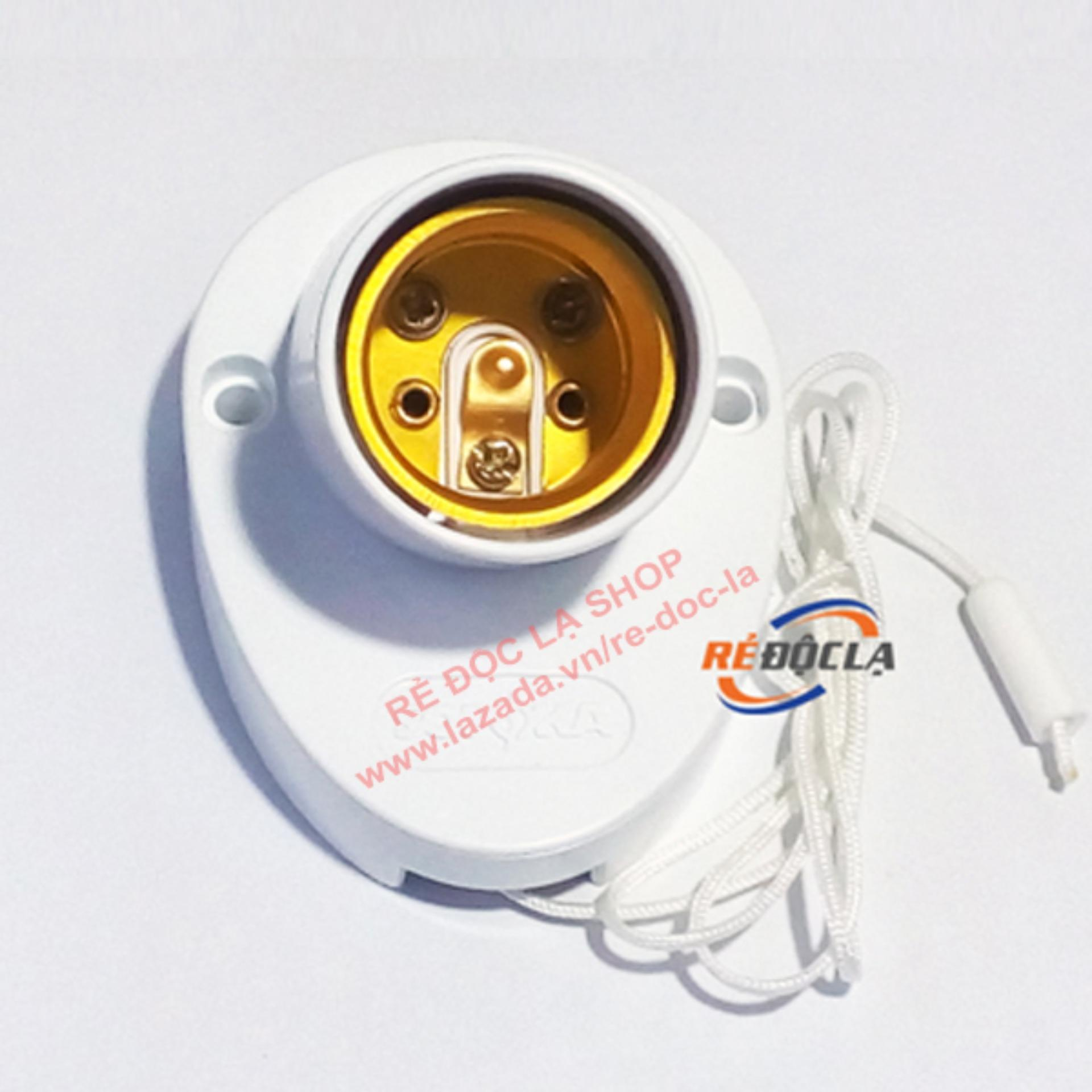 Đuôi đèn lắp tường công tắc giật dây Sopoka DV9